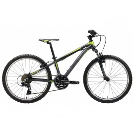 Bicicleta copii Spyke 24 Black Sand Pearl Apple Green Jewel White-Silverback