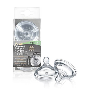 Tetina Closer to Nature FLux Lent 2 Bucati 0+-Tommee Tippee