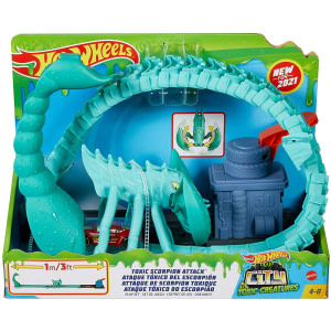 Set de joaca Circuit cu obstacole Hot Wheels City