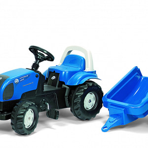 Tractor cu pedale Rolly Toys Kid Landini cu remorca-ROLLY TOYS
