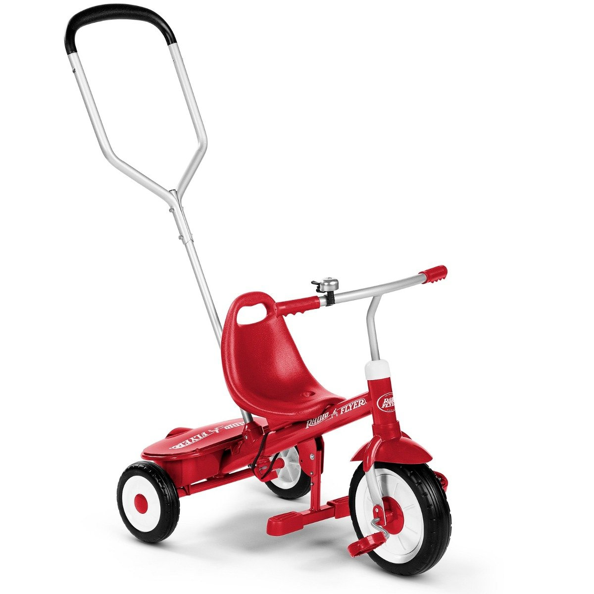 Tricicleta multifunctionala Radio Flyer Sterr and Stroll, Rosu